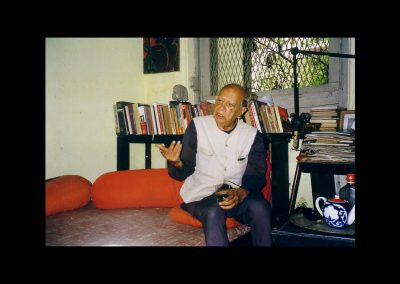 Mulk Raj Anand at home in Cuffe's Parade, Bombay . Photo Credit: Alastair Niven