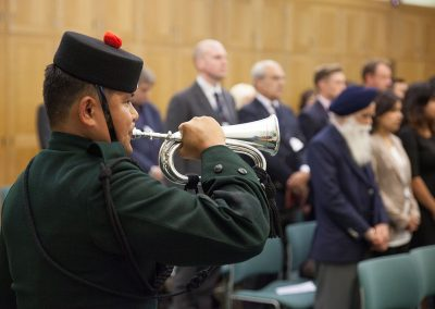 The Launch of the project Salt of the Sarkar took place on 13 October 2014 in Westminster. LCpl Prakash Rai, Bugler (2nd Battalion Royal Gurkha Rifles) played the bugle for The Last Post. Photo Credit:  George Rosen Darrell