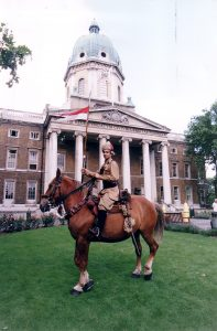 Actor Raza Jaffrey. Outside Imperial War Museum 1998.