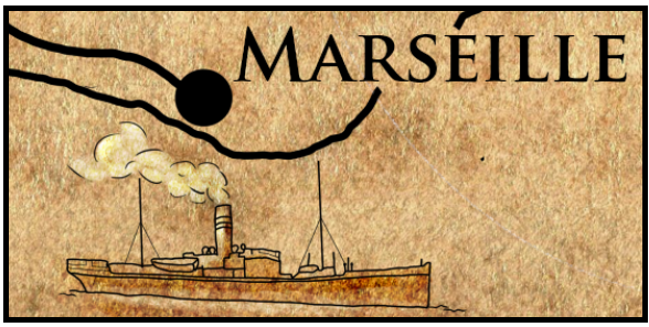 Map-Marseille, excerpt from original commission by Sam Holland